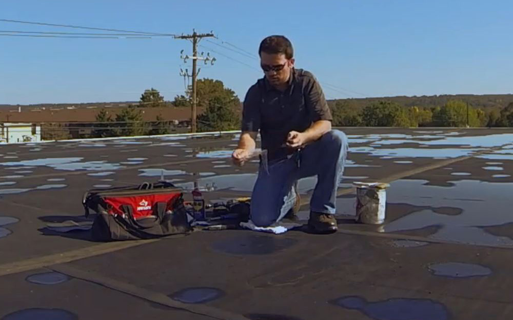 Pressure sensitive EPDM roof patch