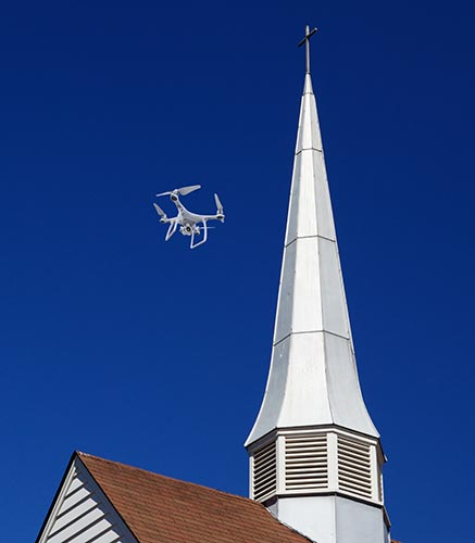 drone steeple inspection